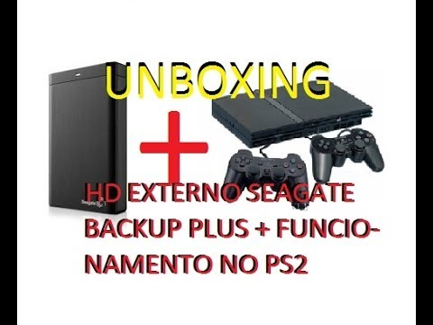 UNBOXING hd externo usb seagate backup plus 1tb e funcionamento no playstation 2 ps2