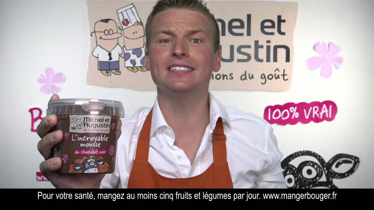 Publicité Michel et Augustin – la mousse au chocolat noir