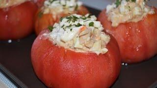 Receta de tomates rellenos de atún y huevo
