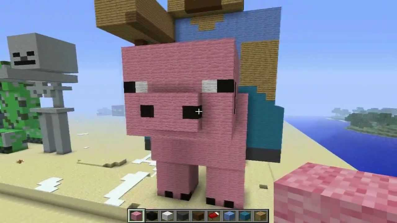 minecraft how to build a pig