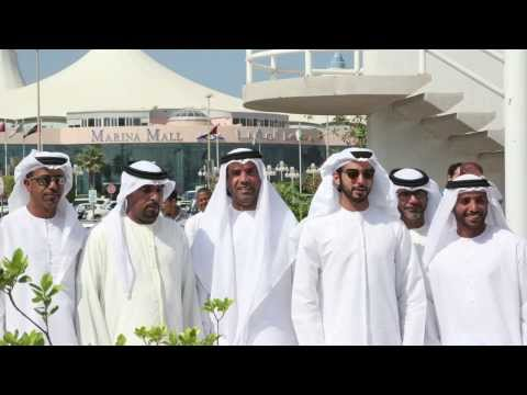 His Excellency Sheikh Zayed Bin Sultan Hoisting The UAE Flag At Adimsc 2013