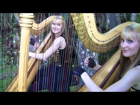 SMOKE ON THE WATER - Deep Purple (Harp Twins) Camille and Kennerly