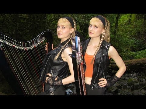 EYE OF THE TIGER - Survivor/Rocky III (Harp Twins electric) Camille and Kennerly