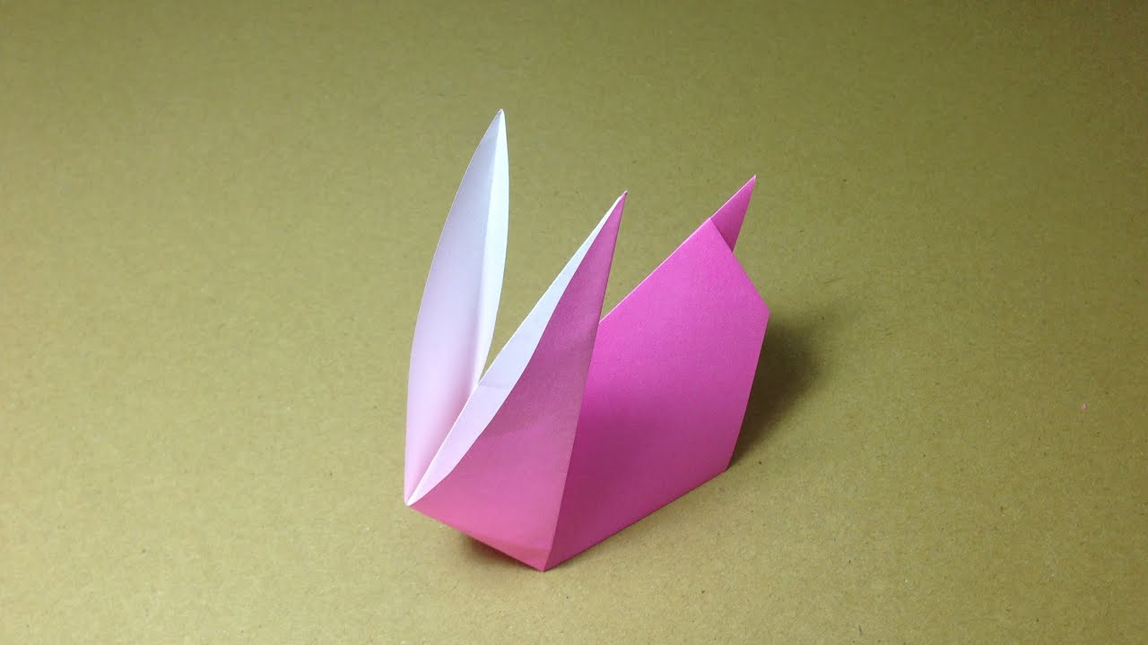 how to make a paper animals origami rabbit easy for