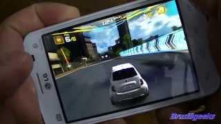 LG Optimus L4 II Tri TV Teste De Jogos