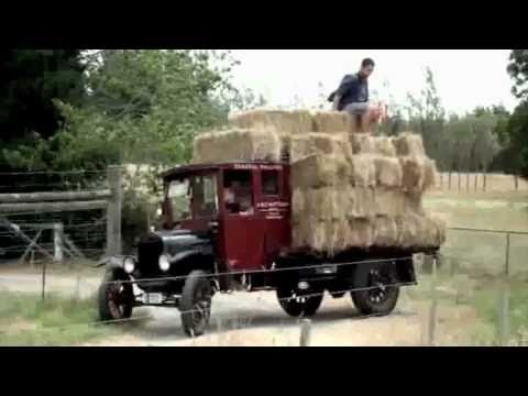 Hauling Hay with 1926 Ford Model TT 1 Ton Truck