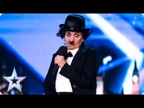 Lynda McMurray gets cheeky as Charlie Chaplin | Auditions Week 2 | Britain's Got Talent 2017