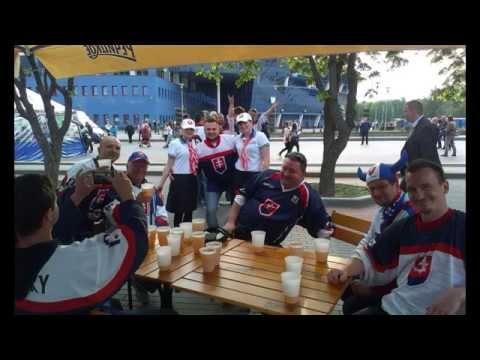 Slovakia fans Minsk trip 2014