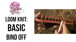 Loom Knitting: How To Basic Bind Off