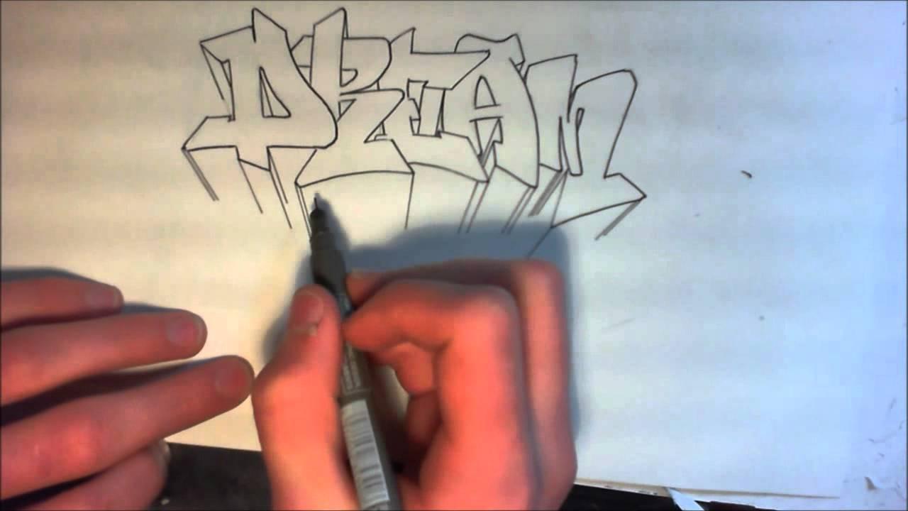 Tutorial graffiti comment faire la 3d sur un graff for Dessin 3d facile