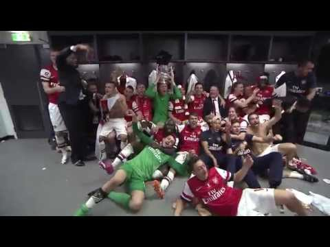 Arsenal: FA Cup final dressing room celebrations
