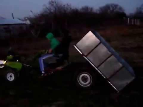 Motocultor cu remorca (motosapa)