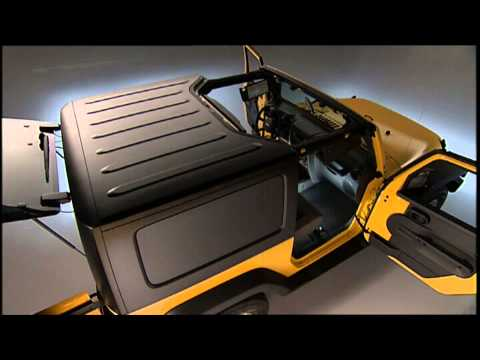 2013 Jeep Wrangler Freedom Top Modular Hard Top Removal