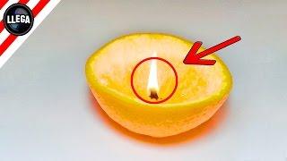 Cómo hacer una vela con una naranja