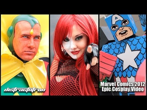 Marvel漫畫角色cosplay 2012