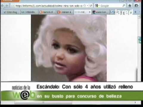 Una niña de tan solo cuatro años utilizó relleno en el busto en un concurso de belleza