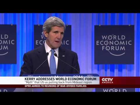 John Kerry on U.S. Mideast Policy at Davos