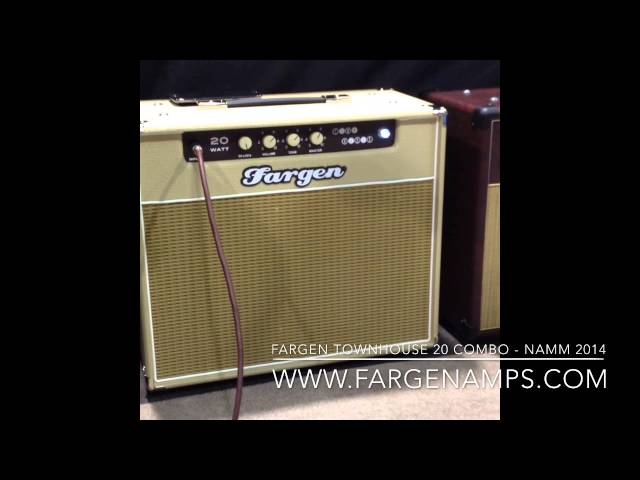 Fargen Townhouse 20 combo with Fender Stratocaster - NAMM 2014