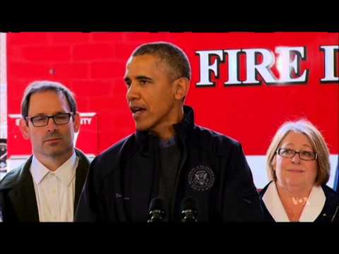 Enroute to Asia, Obama Visits Landslide Victims in...