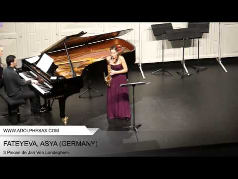 Dinant 2014 - Fateyeva, Asya - 3 Pieces by Jan Van Landeghem