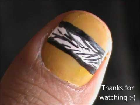 Tree in snow how to short nails designs to do at home - Easy nail designs for short nails at home ...