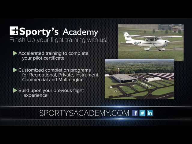 Finish Up Your Flight Training at Sporty's Academy