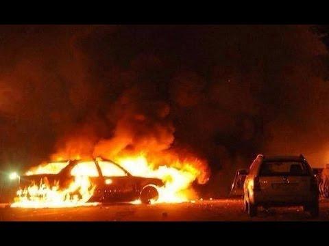 image vidéo  تفجير بوابة برسس لمدينة بنغازي