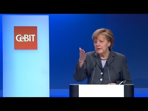 Angela Merkel & David Cameron auf der CeBIT 2014 - Big Data