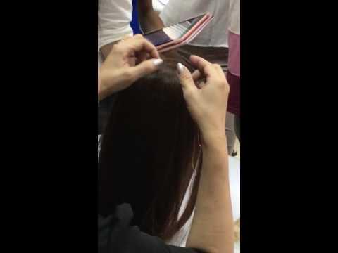 Gắn dây kim tuyến trên tóc-Hồng Liên