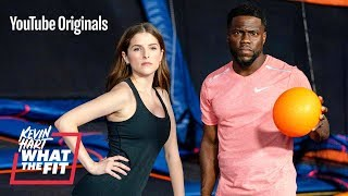 Trampoline Dodgeball with Anna Kendrick and Kevin Hart