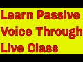 Learn Passive Voice Through Live Class On Skype With Indian Accent