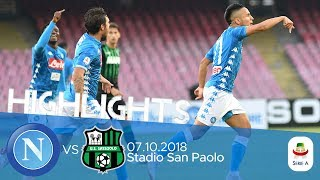 HL - Napoli V Sassuolo 2-0