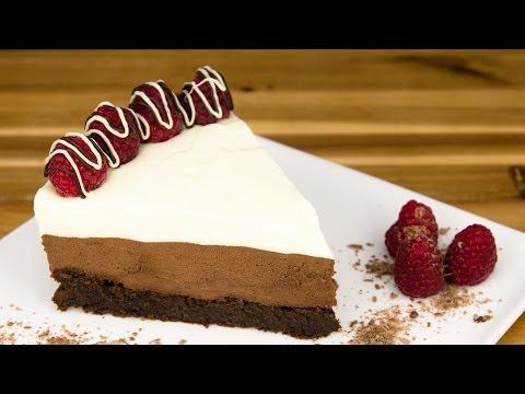 Triple Chocolate Mousse Cake Recipe
