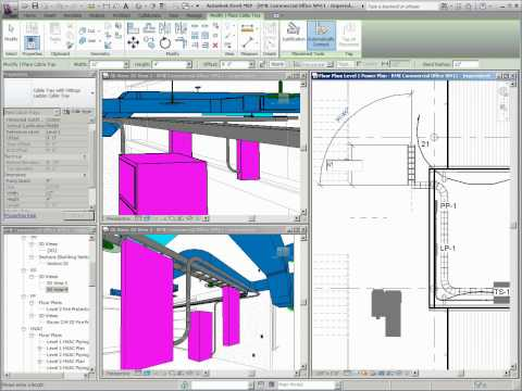 What's New in Revit MEP 2011 - Cable Tray Layouts