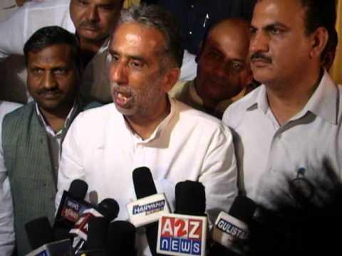 Faridabad BJP Candidate Krishan Pal Gurjar In Press Conference