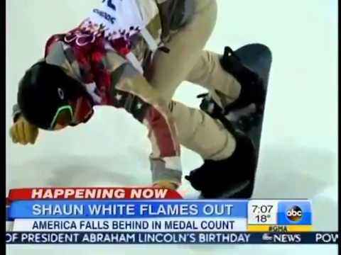 Shaun White Sochi 2014   Shaun White Fails To Medal in Olympic Halfpipe   VIDEO