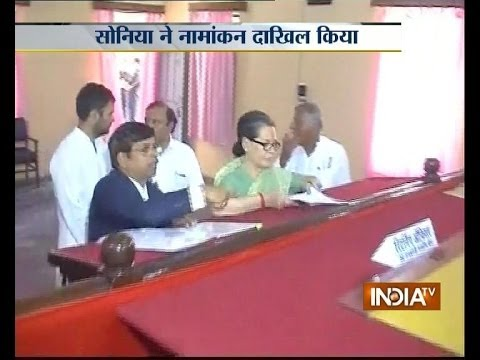 Sonia Gandhi files nomination after roadshow in Rae Bareli