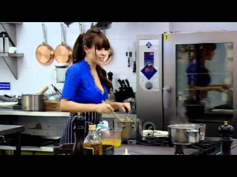 Chef Ramsay chops off Danni Minogue's hair dressers hair with kitchen knife - The F Word