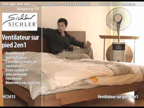 ventilateur sur pied 2 en 1 youtube. Black Bedroom Furniture Sets. Home Design Ideas