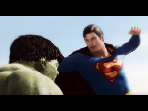 Superman vs Hulk - The Fight  (Part 1), This is a continuation of the Intro scene I made six months ago. Hulk and Superman are in the desert and the fight begins. This is a work in progress and the...