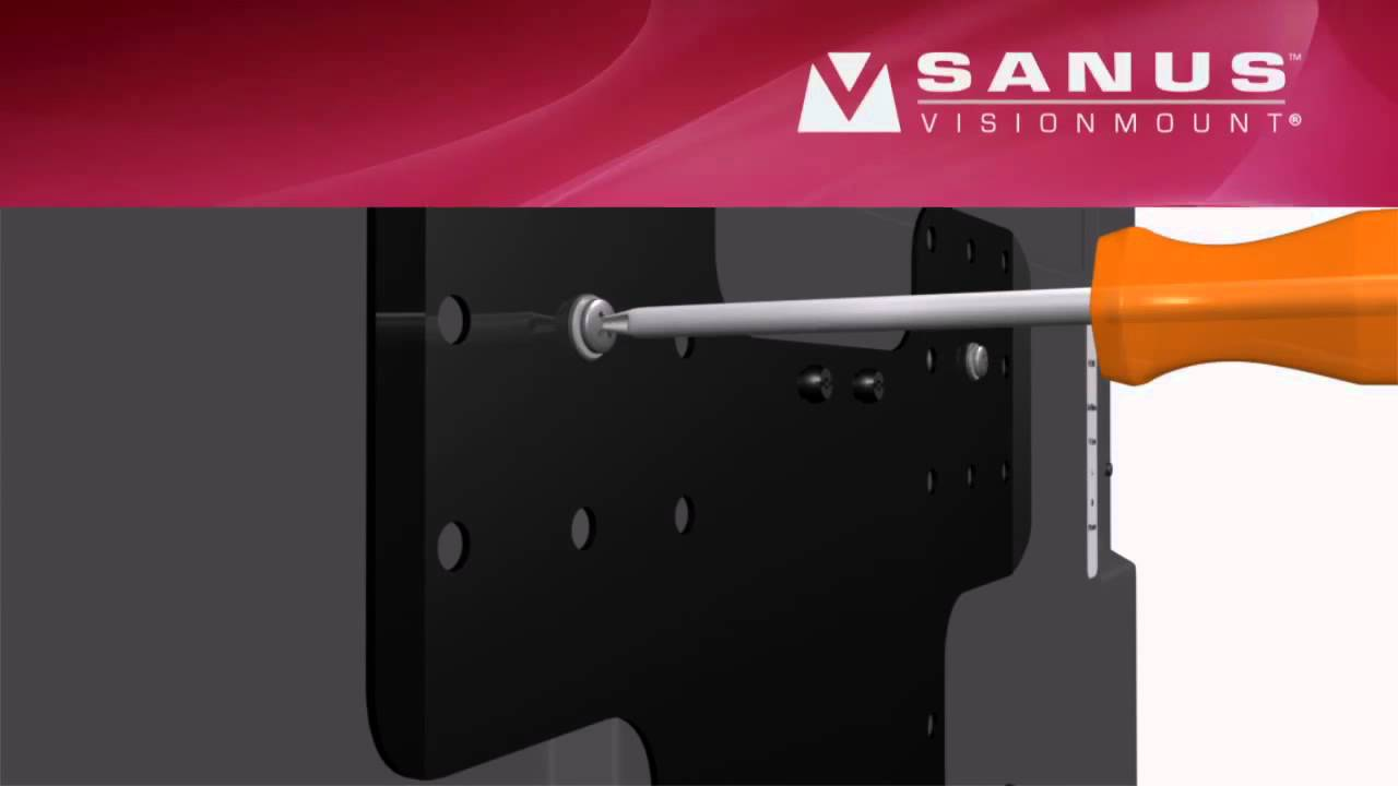 How To Install Your Sanus Vmf308 Tv Mount Youtube