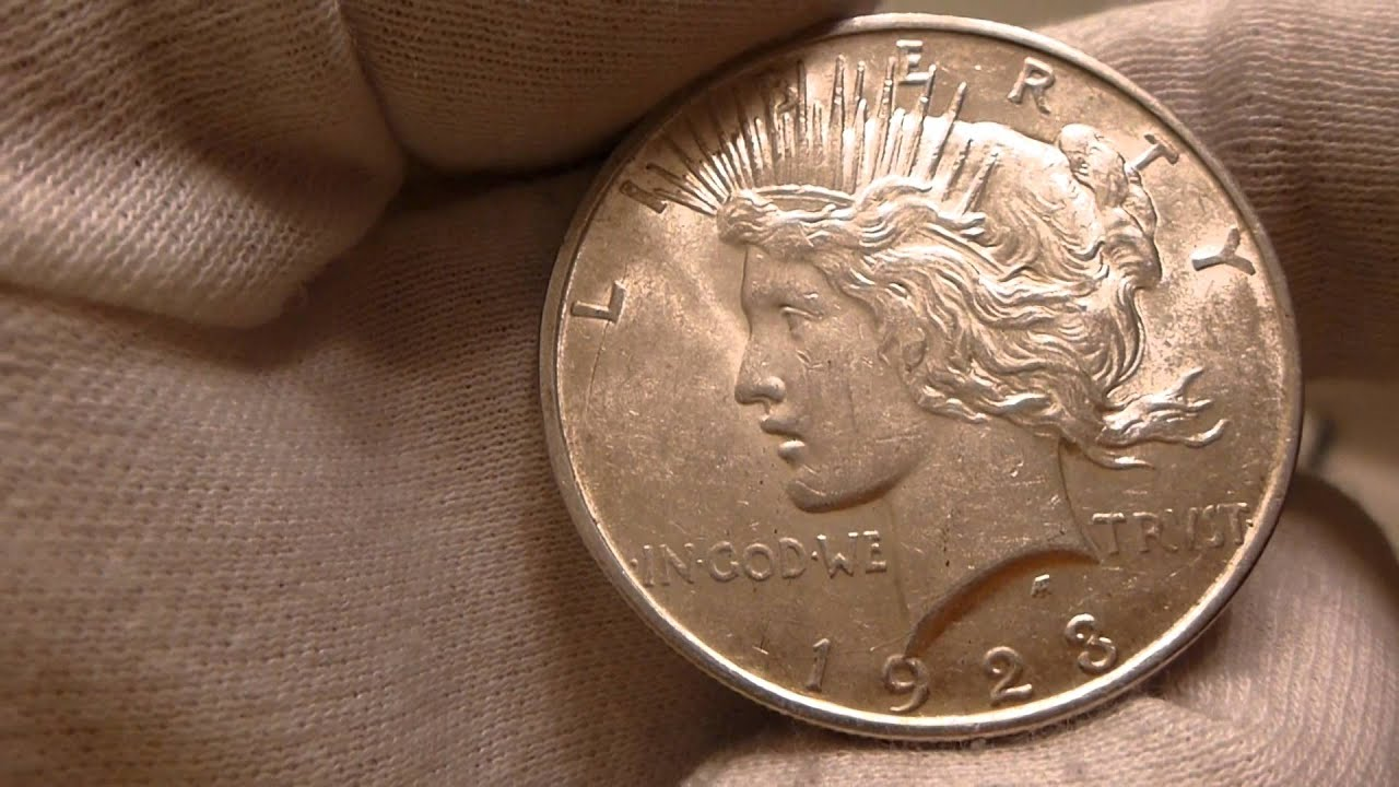 1923 Peace Silver Dollar Coin Review Youtube