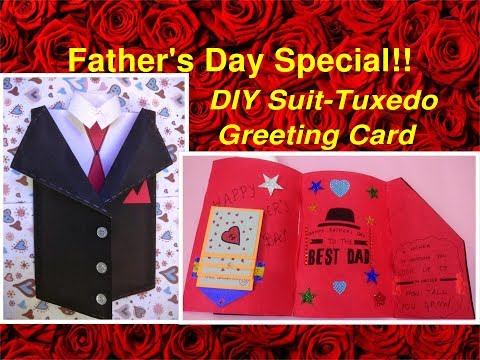 Best gifting idea for Father's day   DIY Suit-Tuxedo Greeting Card Tutorial   Father's Day Special