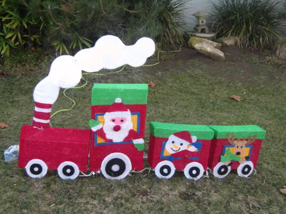 Homemade christmas yard decorations ideas la california for Christmas home made decorations