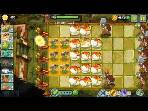 Plants vs Zombies 2 - Lost City Part 1 and Toadstool