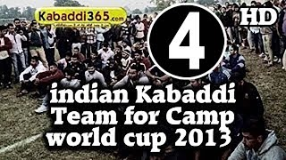 Selected Players For Kabaddi Indian Team Camp Kabaddi