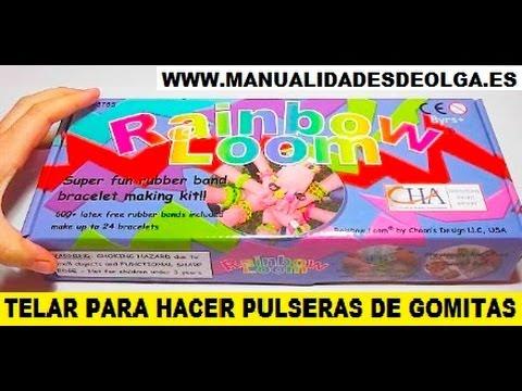 TELAR RAINBOW LOOM PARA HACER PULSERAS DE GOMITAS. OS ENSEÑO MI NUEVO TELAR. ESPAÑOL