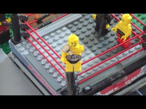 Lego WWE Raw Randy Orton vs John Cena