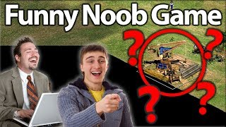 """Funny AoE2 Noob Game! """"AMAZING LEARN"""""""