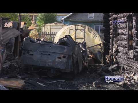 В Бердске на пожаре в частном секторе погибла пенсионерка